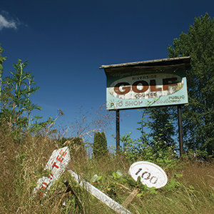 USA - Abandoned Golf Club Sign