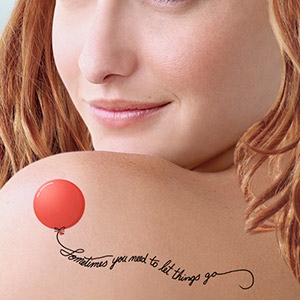 A mocked up divorce tattoo.