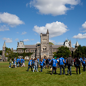 TORONTO, ON - SEPTEMBER 09, 2010 - Frosh week at the University of Toronto. Photograph by Andrew Tolson