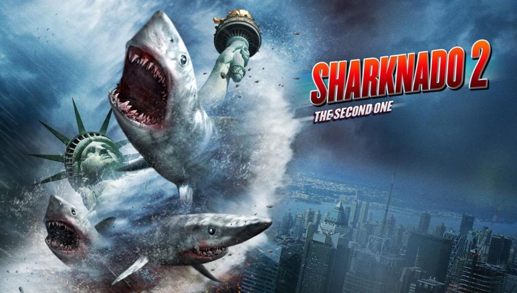 Sharknado 2. It's pretty subtle. (SyFy)