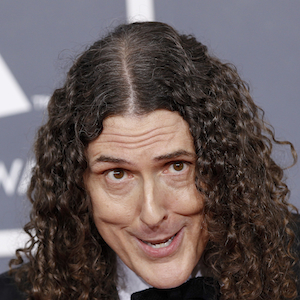 Weird Al Yankovic arrives at the 54th annual Grammy Awards in Los Angeles