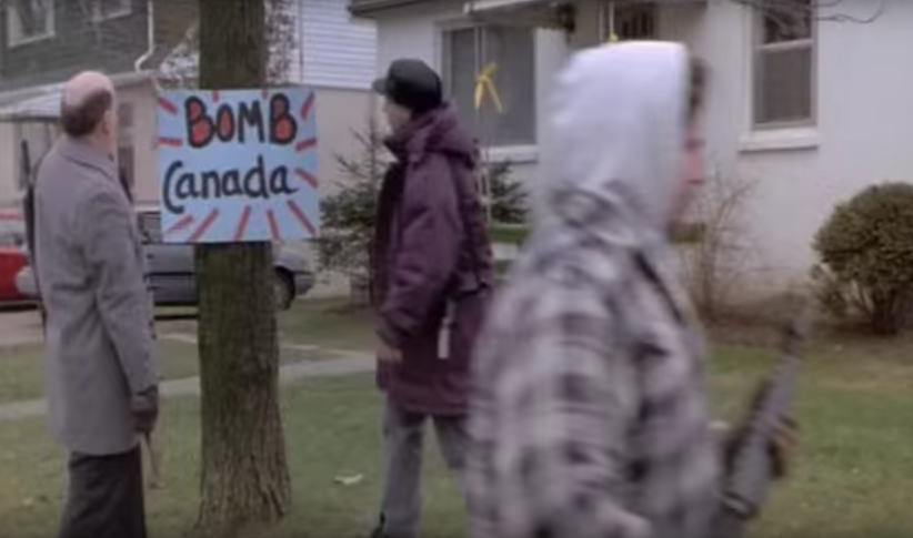 Screen shot from Canadian Bacon (YouTube)