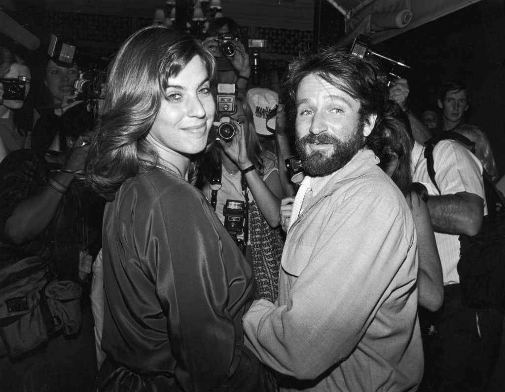 Williams and first wife Valerie Velardi at the New York wedding of Paul Simon and Carrie Fisher in 1983 (David McGough/DMI/The LIFE Picture Collection/Getty Images)