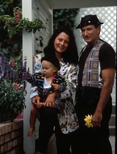 Williams poses with second wife Marsha and daughter Zelda (ZUMAPRESS.com/Keystone Press)