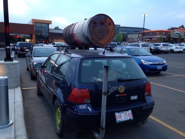 Alberta's Volkswagen Bucket Brigade. Photo Credit: Jen Gerson