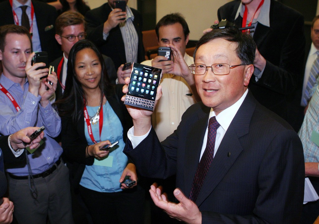 BlackBerry CEO John Chen. (Dave Chidley/The Canadian Press)