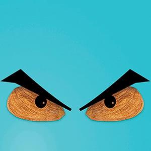 Illustration for Big, bad almonds.