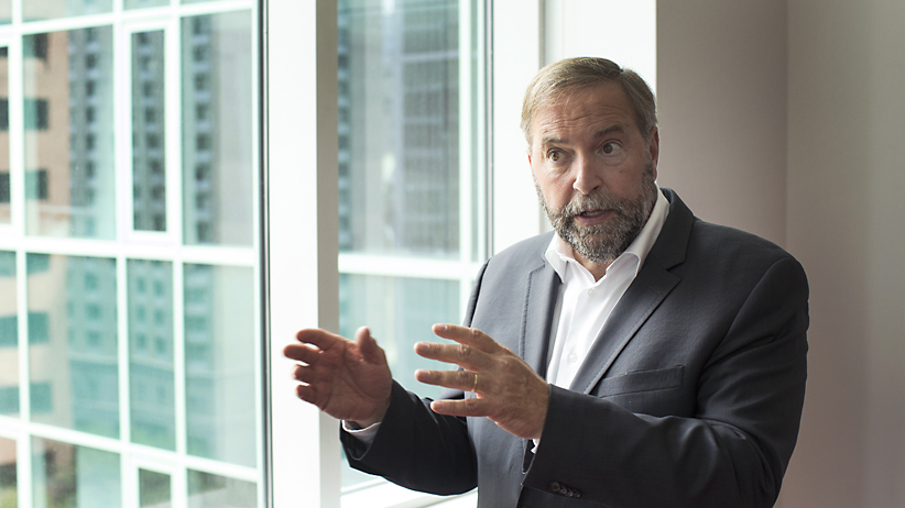 TORONTO, ON, September 1st, 2014 - NDP leader Tom Mulcair.