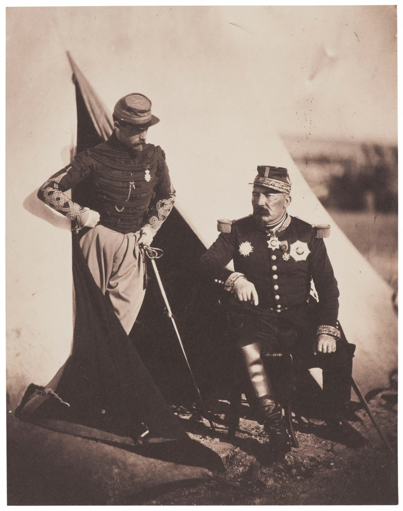 'General Bosquet and Captain Dampierre': Roger Fenton's original photo became the basis for an illustration in the London Illustrated Times.