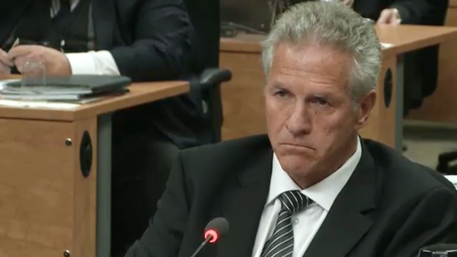 Construction magnate Tony Accurso is seen on an image taken off a television monitor at the Charbonneau inquiry looking into corruption in the Quebec construction industry Wednesday, September 3, 2014 in Montreal. THE CANADIAN PRESS/Paul Chiasson