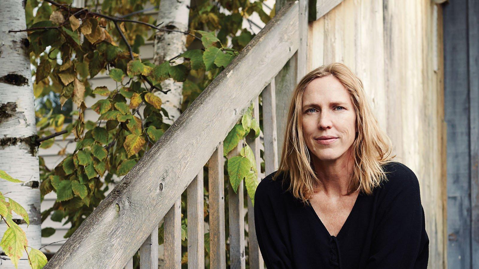 Miriam Toews, outside her Toronto home. Photograph by Jaime Hogge