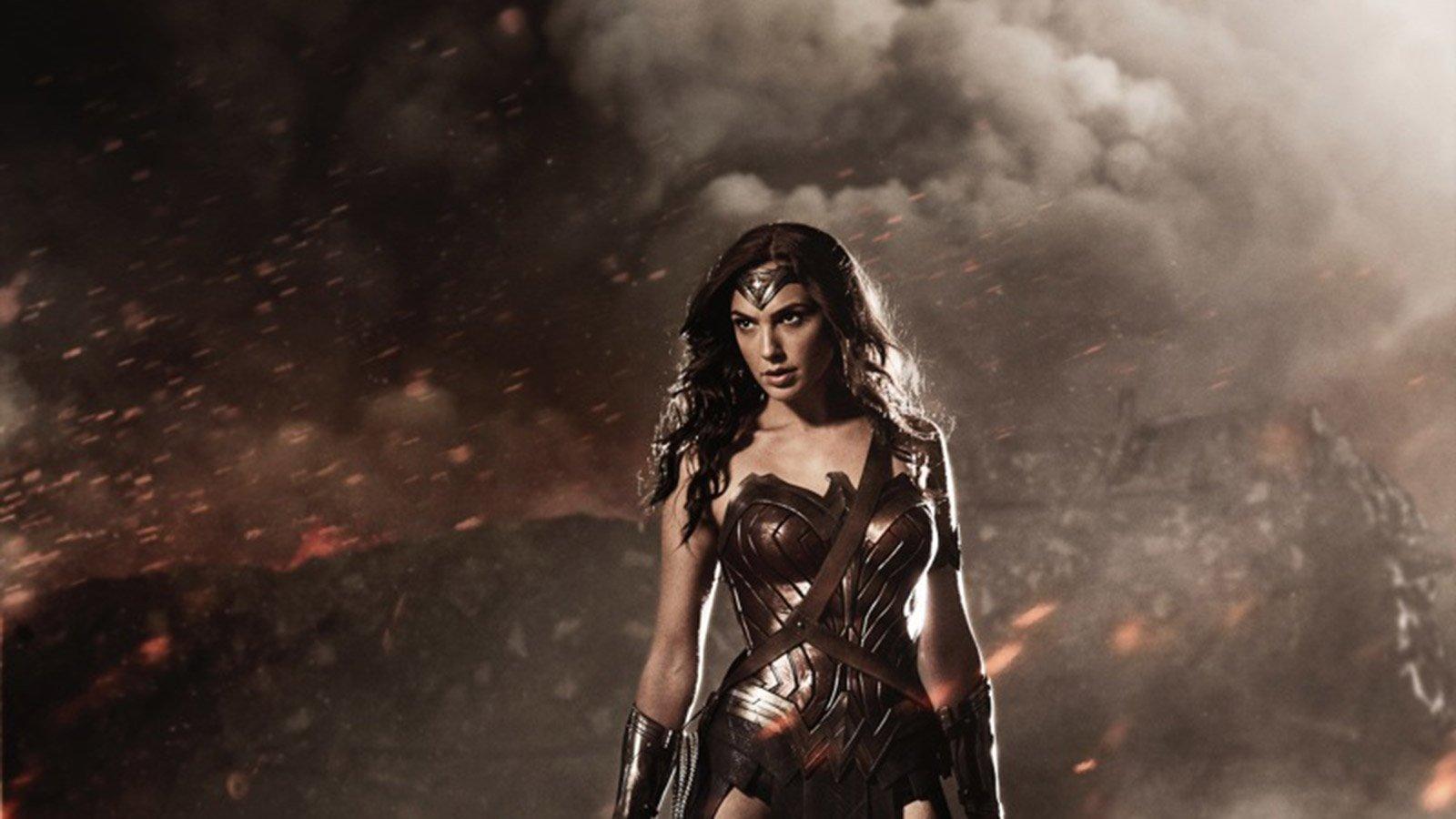 First look of Gal Gadot as Wonder Woman.   Credit:  Warner Brothers