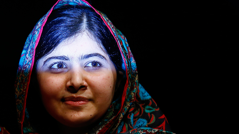 Young and worthy: At age 17, Malala Yousafzai became the youngest Nobel Peace Prize winner for standing up for girls' education in Pakistan.  Darren Staples/Reuters