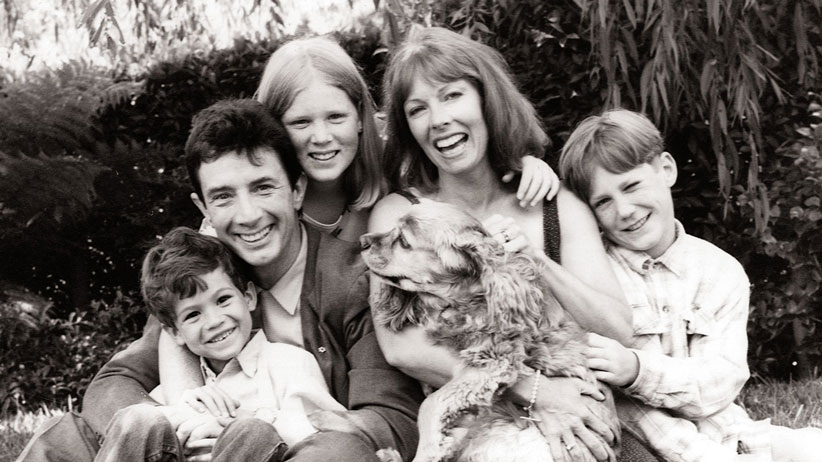 The Short family Christmas card (with Buster the dog) in 1994. (Photo courtesy of Martin Short)