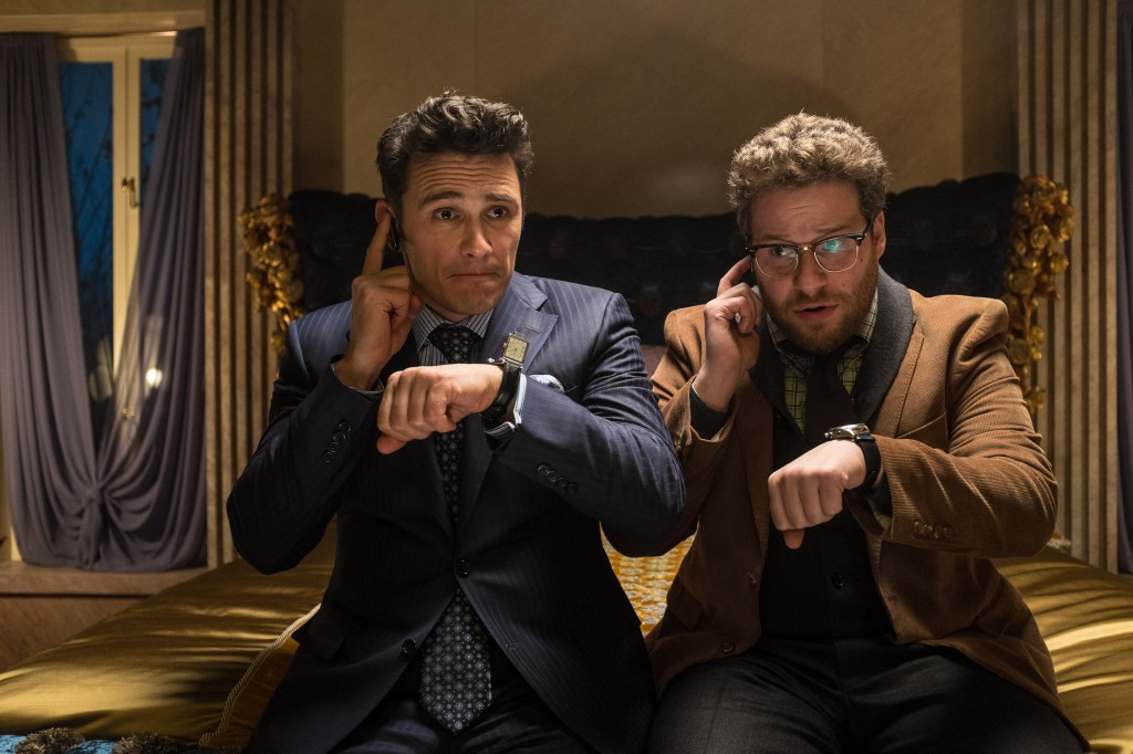 "James Franco, left, and Seth Rogen in ""The Interview."" (AP Photo/Columbia Pictures, Sony)"