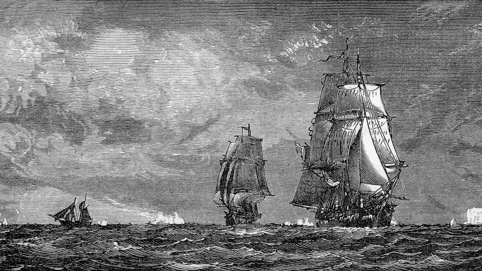 """Ill. of the ships """"Erebus"""" and """"Terror"""", belonging"""