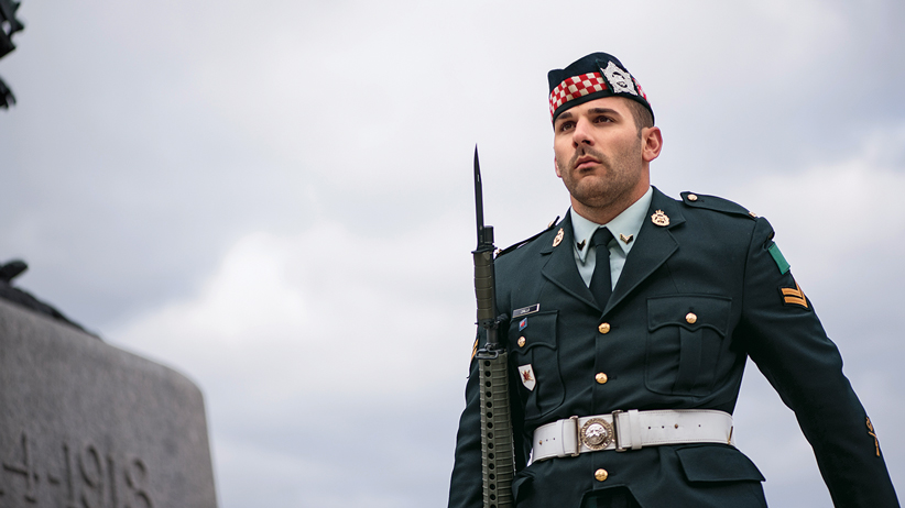 Cpl Nathan Cirillo on duty at the National War Memorial, Tuesday October 21st, 2014. (Photograph by Guillaume Hache)