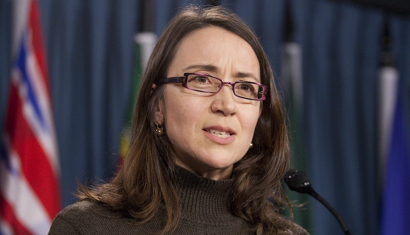 Nathalie Provost on Parliament Hill in 2011. (Adrian Wyld, The Canadian Press)