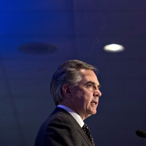 Alberta Premier Jim Prentice gives a state-of-the-province address in Edmonton, Alberta on December 9, 2014. (Jason Franson/The Canadian Press)