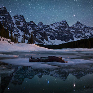 'Adrift', Moraine Lake, Banff National Park, Alberta, Canada. Photograph by Paul Zizka.