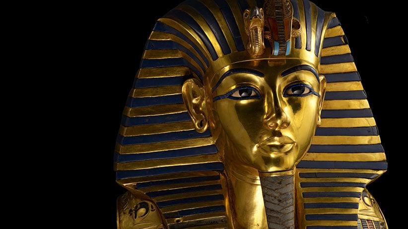 The funerary mask of King Tutankhamun. (Kenneth Garrett/Getty Images)