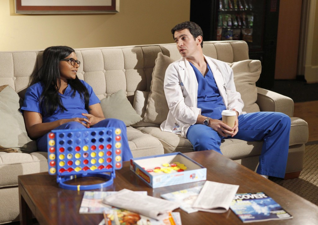 "Mindy Kaling, left, and Chris Messina in a scene from ""The Mindy Project"". (AP Photo/Fox, Beth Dubber)"