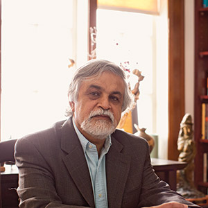 M.G. VASSANJI shot at home.  Photograph by Jaime Hogge