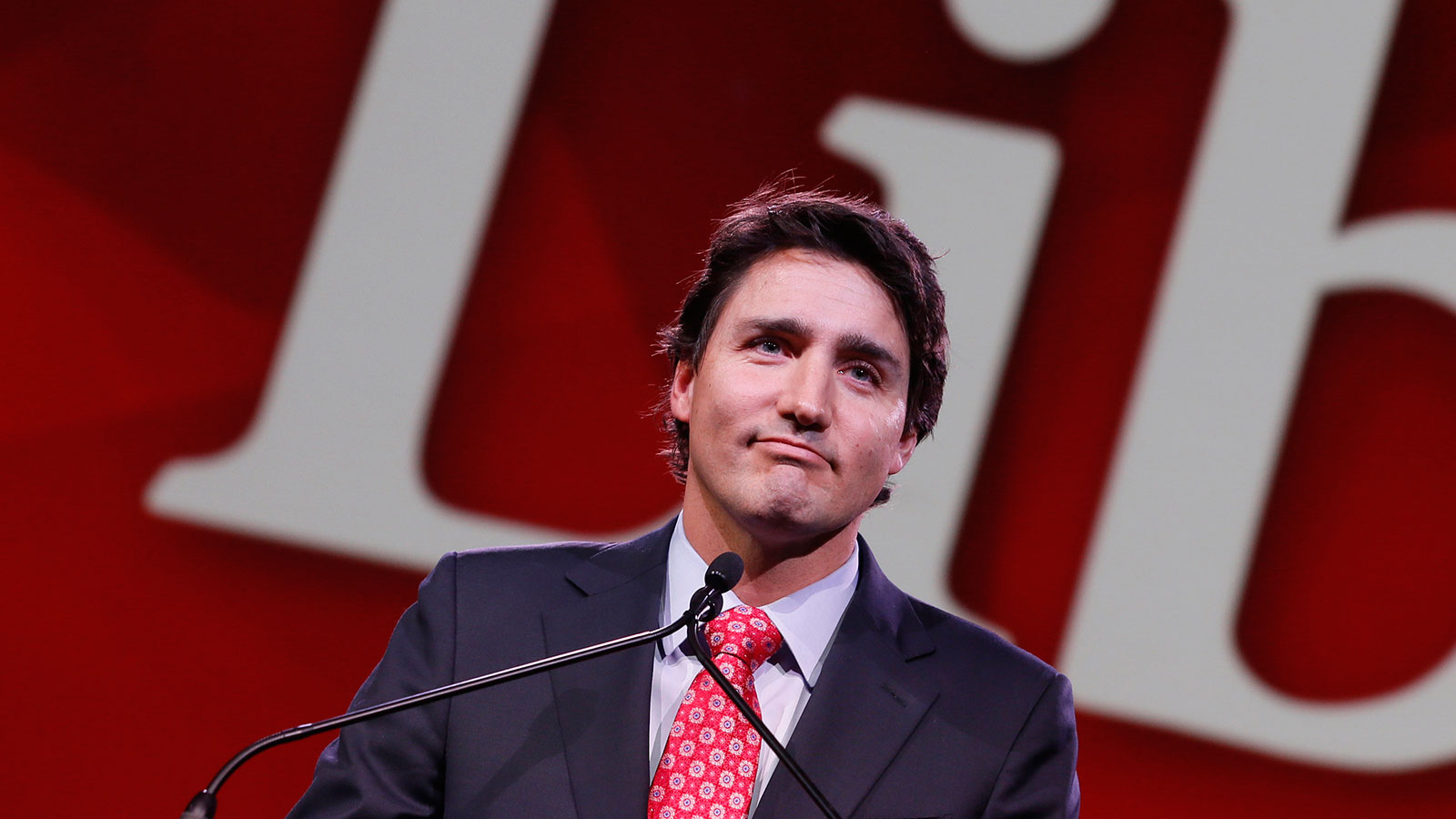 Liberal Leader Justin Trudeau Gives Keynote Address At Biennial Convention In Montreal