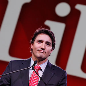 Liberal leader Justin Trudeau gives keynote address at Liberal Biennial Convention in Montreal