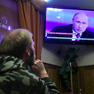 Live broadcast of president Putin's press conference