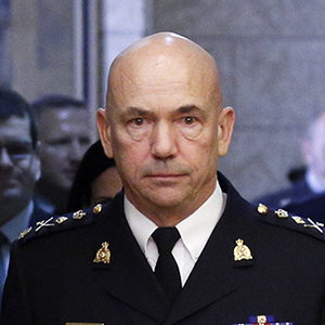 Royal Canadian Mounted Police Commissioner Bob Paulson prepares for a public safety committee meeting on Parliament Hill in Ottawa