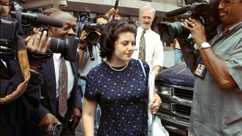 UNITED STATES - JUNE 12: Monica Lewinsky leaving the office of her lawyer, Plato Cacheris, on Connecticut Ave. Harry Hamburg/NY Daily News Archive/Getty Images