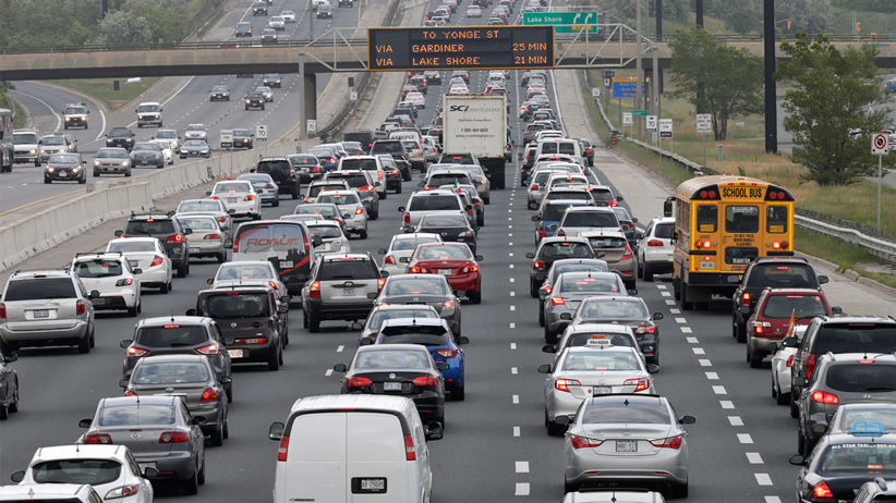 Traffic congestion on the Gardiner Expressway  in the Toronto area  on Tuesday June 17, 2014. (Craig Robertson/Toronto Sun/QMI Agency)