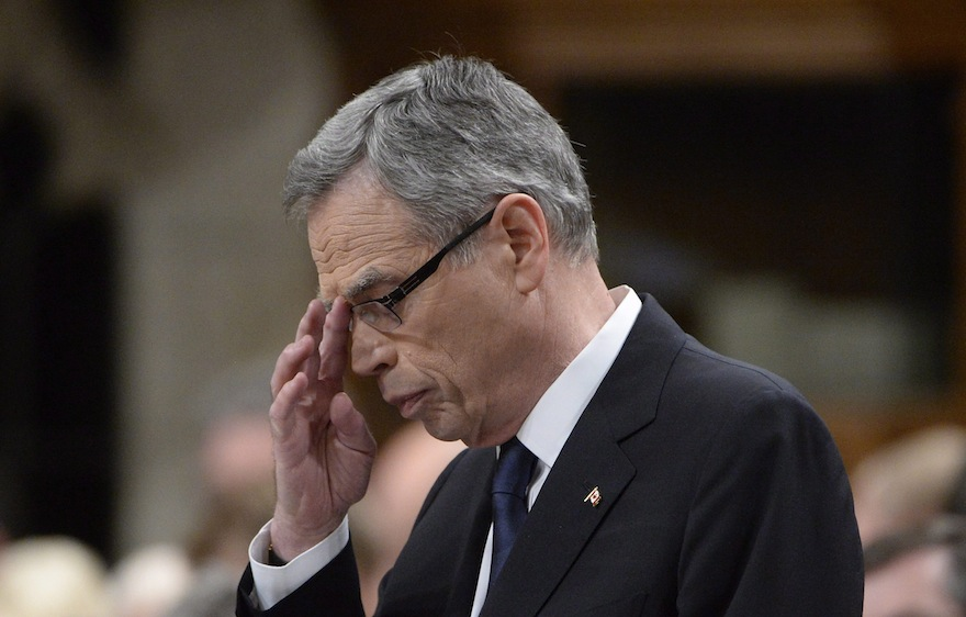 Minister of Finance Joe Oliver delivers the federal budget in the House of Common on Parliament Hill in Ottawa on Tuesday, April 21, 2015. (Adrian Wyld/CP)