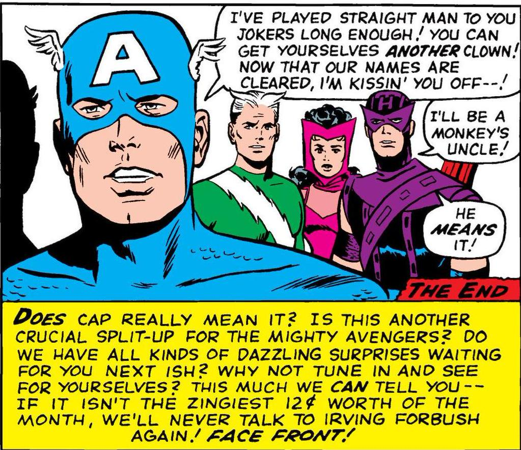 Captain America, Quicksilver, Scarlet Witch, Hawkeye