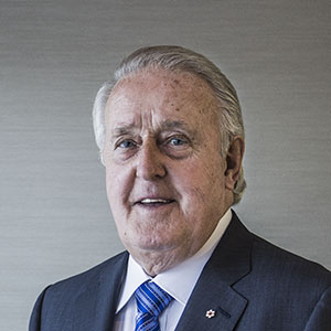 The Right Honourable Brian Mulroney. Photograph by Will Lew