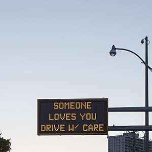 TORONTO, ONTARIO, CANADA - May 22, 2015:  The overhead message board seen at Lakeshore Blvd West and British Colombia Drive in Toronto. ( Photo by Philip Cheung)