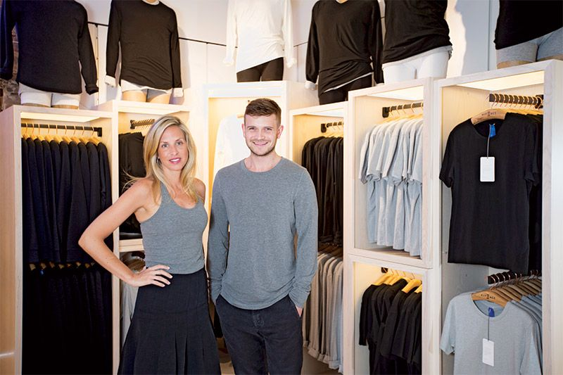Co-founders Shannon and JJ Wilson of Kit and Ace. (Liam Mogan for Canadian Business)