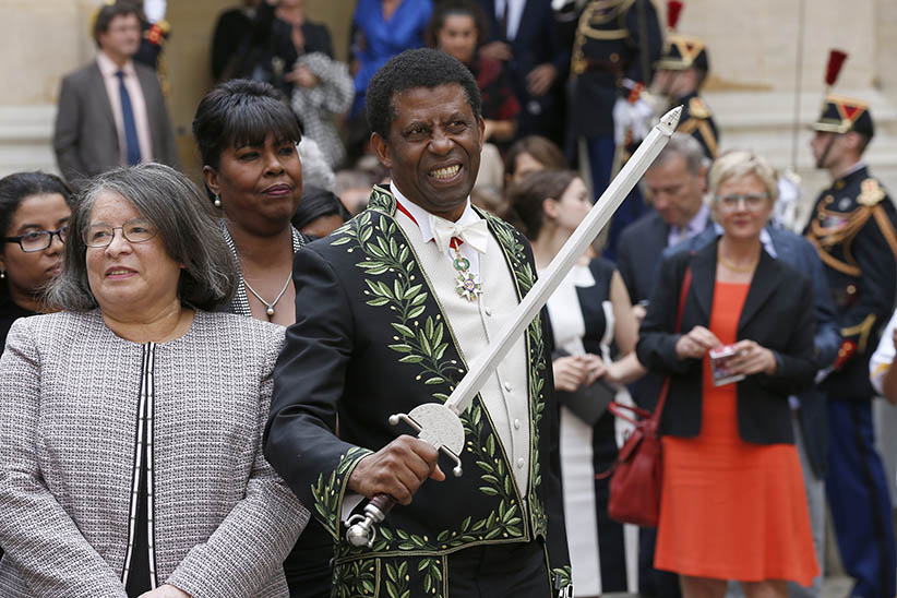 En garde! Quebec writer Dany Laferrière becomes the first non-French citizen to be inducted into the Académie française, protector of the language (Thomas Samson/AFP/Getty Images)