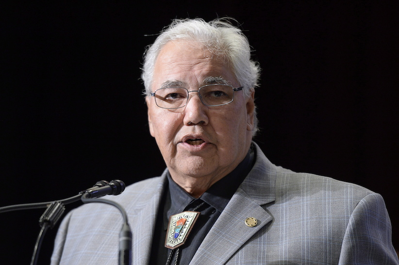 Commission chairman Justice Murray Sinclair speaks at the Truth and Reconciliation Commission in Ottawa on Tuesday, June 2, 2015 . (Adrian Wyld/CP)