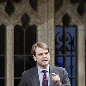 Canada's Immigration Minister Chris Alexander speaks during Question Period in the House of Commons on Parliament Hill in Ottawa April 3, 2014. Chris Wattie/Reuters.