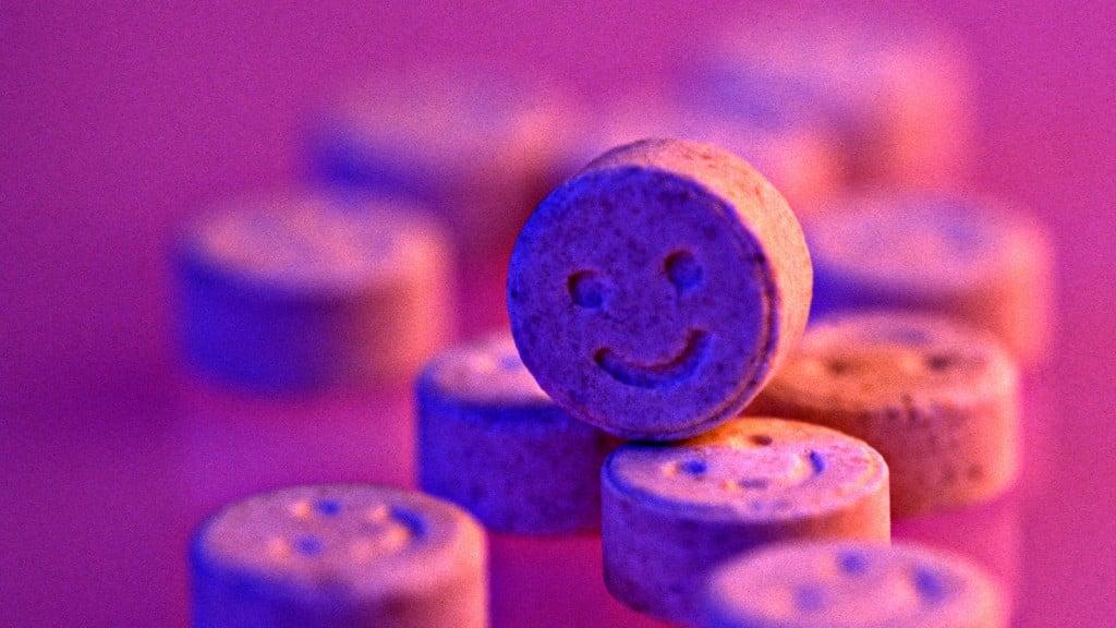 AE9E62 Ecstasy pills. Martin Norris Studio Photography/Alamy