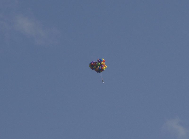 A Calgary man got more than he bargained for when he flew over the city in a lawn chair attached to helium balloons and then had to parachute to safety.Police have charged the man with mischief and say more charges could be on the way. THE CANADIAN PRESS/HO-Tom Warne