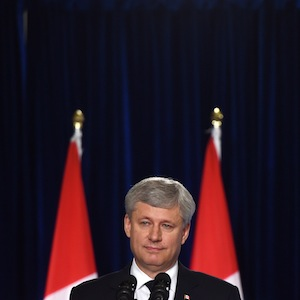 Conservative leader Stephen Harper makes a campaign stop in London, Ontario, on Wednesday, August 19, 2015. THE CANADIAN PRESS/Sean Kilpatrick