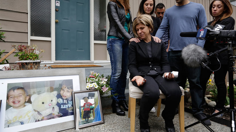 Sept 03 2015 -- Coquitlam, BC Fatima Kurdi, aunt of Syrian refugees that drowned speaks to reporters outside her home in Coquitlam, BC. Photograph by Brian Howell