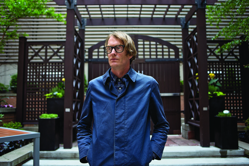 Patrick Dewitt  is photographed in Toronto on June 2, 2015. (Photograph by Jennifer Roberts)