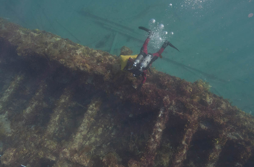 Among the odds and ends in the 2021 federal budget is more money to explore the wrecks of the Franklin Expedition ships, the HMS Erebus, above, and the HMS Terror (Parks Canada)