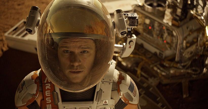 Astronaut Mark Watney (Matt Damon) finds himself stranded and alone on Mars, in The Martian. (Twentieth Century Fox)