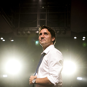 Liberal Leader Justin Trudeau speaks to supporters during a campaign stop in Toronto on Monday, August 17, 2015. THE CANADIAN PRESS/Darren Calabrese