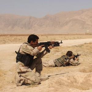 Afghanistan's security forces take their position during a clash by Taliban fighters in the highway between Balkh province to Kunduz city, north of Kabul, Afghanistan. (AP Photo, File)